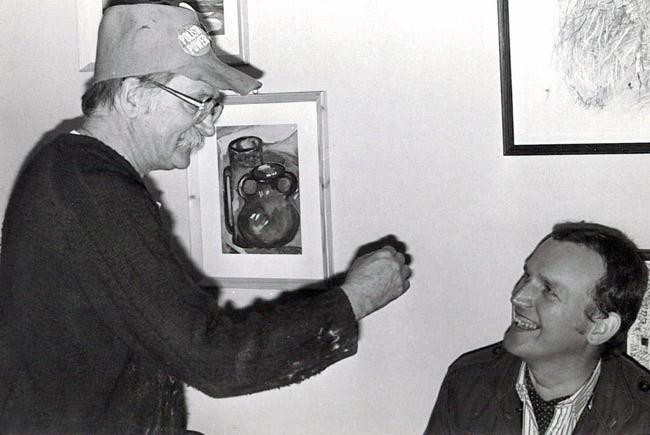 Argumenty artysty były nie do odparcia. Tadeusz Brzozowski (z lewej) przekonuje Andrzeja Haegenbartha