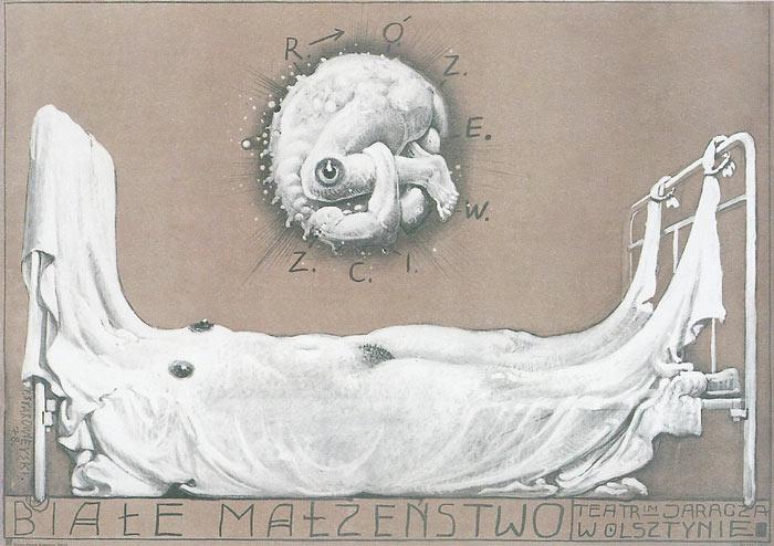 Białe małżeństwo, plakat, 1978