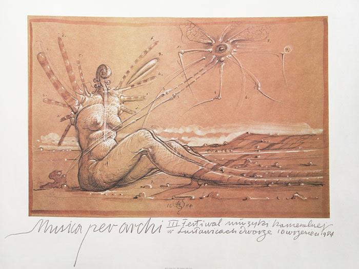 Musica per archi, plakat, 1984 Fot. J. Nowacki
