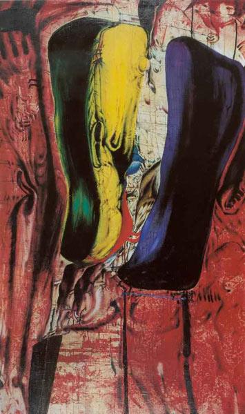 Dyrdy, 1968, olej na płótnie, 236 x 139 cm