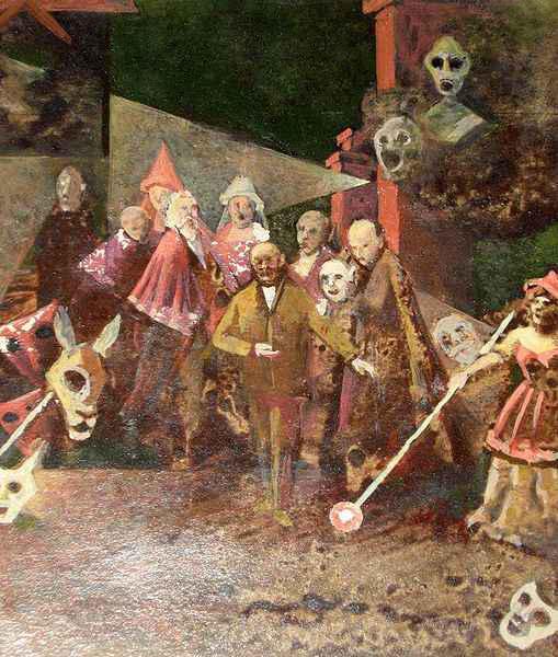 Dramatis personae i maski, temp. , 12 x 10 cm, 1972