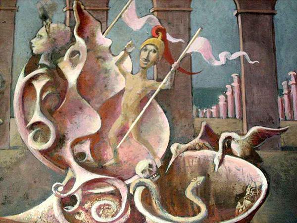 Różowa niestrawność, temp. 12 x 18 cm, 1971