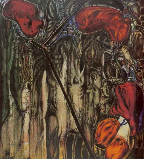 Papagaje i perokety, olej, 1975