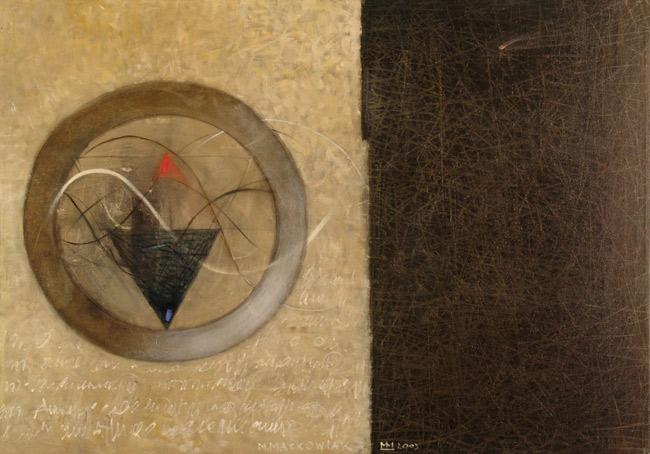 """""""A"""" i co dalej..., olej na pł.,70 x 100 cm, 2004"""