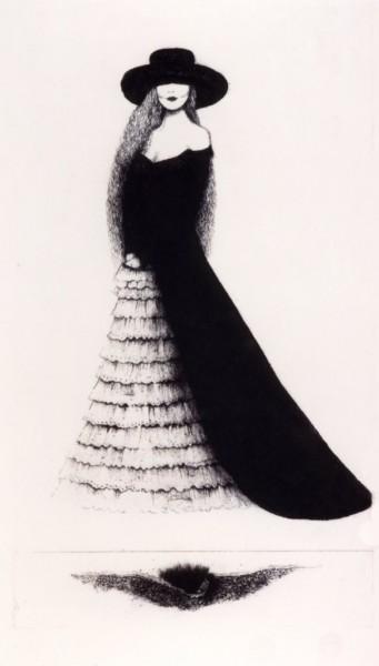 Dama hiszpańska, akwaforta