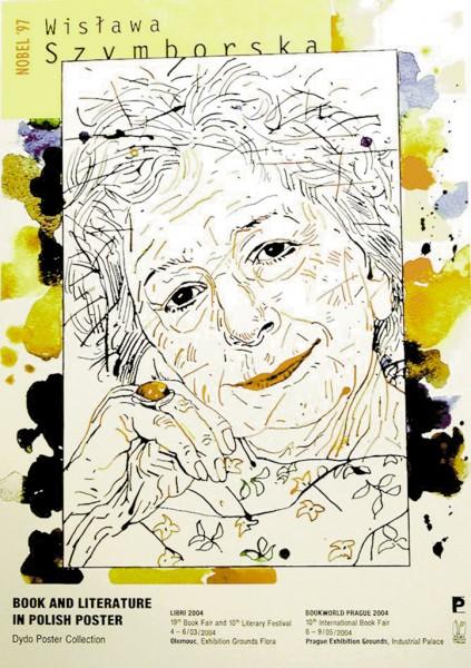 Grzegorz Marszałek – Wisława Szymborska, plakat, 2004