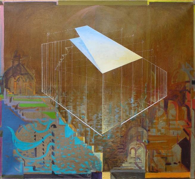 Weduta powietrza, olej, 125 x 115 cm