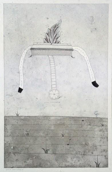 Jerzy Jurga - Azyl Mozarta, tech. własna na płycie, 100 x 65 cm, 1999