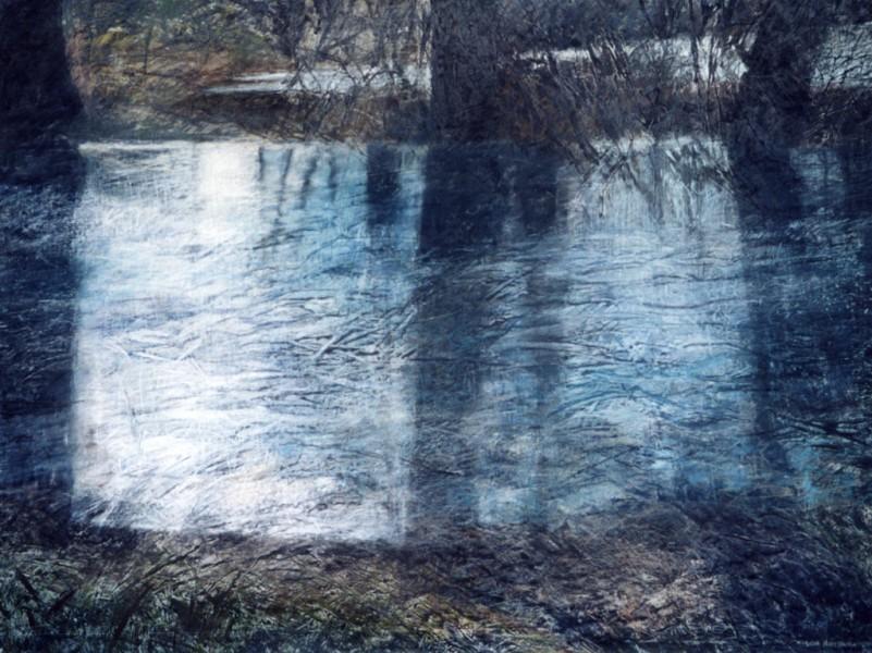 Lidia Maciejewska-Suchanek – Bagrowo II, pastel,169 x 128 cm, 2001