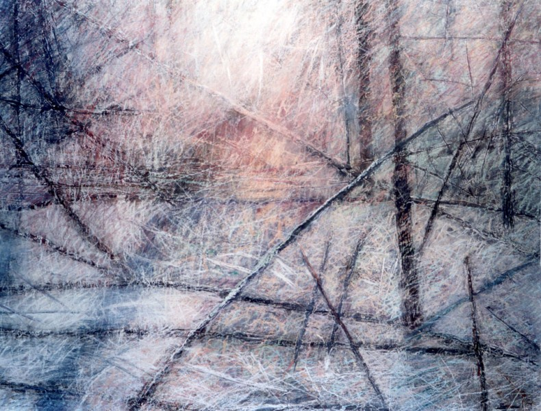 Lidia Maciejewska-Suchanek – Zimowy, pastel,169 x 128 cm, fragment, 2001